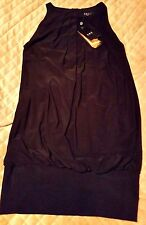 NWT A.B.S Allen Schwartz XS Black Halter Bubble Dress
