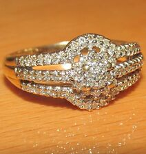 BEAUTIFUL  SECONDHAND 9 CARAT YELLOW GOLD DIAMOND BAND RING SIZE S1/2