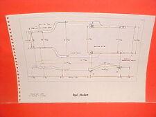1967 1968 1969 OPEL KADETT RALLYE RENAULT R10 R-10 SEDAN FRAME DIMENSION CHART
