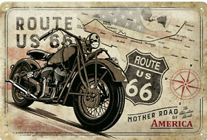 Nostalgic Art Shield Route US 66 Mother Road Of America 20 x 30