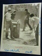 Glossy Press Photo 1984 General Chemical Hazardous Waste clean-up Framingham MA2