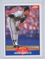 1989 SCORE #616 JOHN SMOLTZ Rookie RC (Braves) HOF