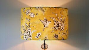 Yellow Bird Lampshade - Drum Lamp shade Ceiling Lamp Table Lamp 20 30 40 cm