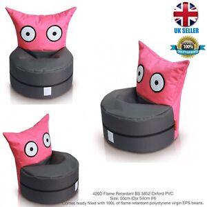 kids Owl Bean Bag420D Flame Retardant BS 5852 Oxford PVC50cm (D)x 54cm (H) P/G