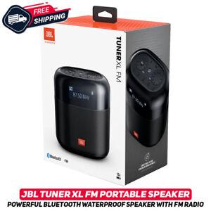 JBL Tuner XL FM Portable Bluetooth Waterproof Speaker W/ FM Radio IPX7 Black New
