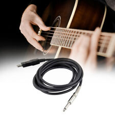 Guitar Audio Adapter Converter 1/4'' 6.3mm To USB PC Guitar Cable Useful
