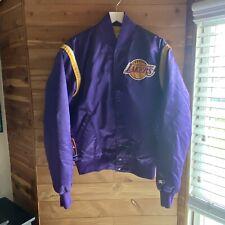 Vintage Los Angeles Lakers Satin Bomber Starter Jacket Size Large 80s NBA