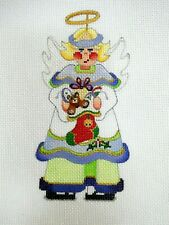 New ListingSweet Christmas Angel Hand Painted Needlepoint Canvas ~ Holding An Xmas Stocking