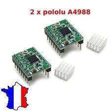 2 x pololu A4988 stepper motor driver Stepstick arduino + Dissipateur Thermique
