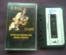 STEVIE RAY VAUGHAN & DOUBLE TROUBLE-LIVE ALIVE UK CASSETTE