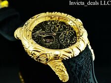 Invicta Men's 50mm Maori DRAGON Automatic 18K Gold Plated Sapphire Crystal Watch