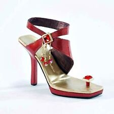 Jtrs Just The Right Shoe Flirt In Red #43534 New!