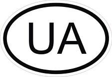 UA UKRAINE Autocollant OVAL Sticker Voiture Moto Caravane Pare-choc