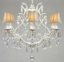 WROUGHT IRON CRYSTAL CHANDELIER CHANDELIERS LIGHTING H 19