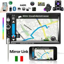 """Doppio 2 Din 7"""" Autoradio Bluetooth Stereo MP5 MP3 Lettore FM USB + Telecamera"""