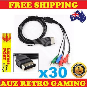 30x 1080p Component HD TV RCA AV Cable Cord Lead For Original Xbox
