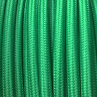 H03VV Textilkabel, Leitung Textilfaser umflochten, rund, grün, 3x0,75