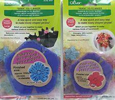 2 Yo-Yo Maker Templates Quick Fabric Flower Shape Small & Large Reusable Clover®