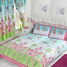 """PRINCESS IS SLEEPING DOUBLE DUVET COVER SET + MATCHING 66"""" x 72"""" LINED CURTAINS"""