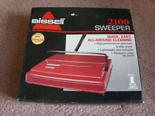 Bissell Model 2100 Carpet Sweeper Red NEW in box