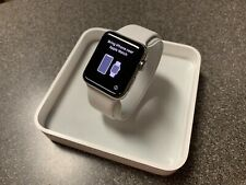 Apple Watch Series 2 42mm Stainless Steel Case White Sport Band + SUPCASE Band
