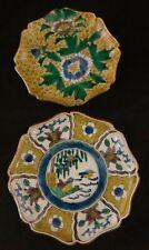 2 Antique Japanese Kutani Porcelain Dishes. 6-7�, Late Meiji Period (1900-1912).