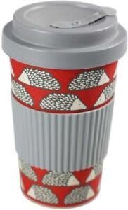 Scion Living Bamboo Spike Drinks Reusable Travel Mug – Red and Grey