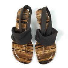 Donald J Pliner Dasan Wedge Sandals Women's Size 7M Sling Back Brown