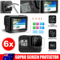 6PCS Screen Protector Cover Lens Cap For GoPro Hero 8 Black Camera Accessories