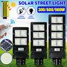 600/900W 90000LM LED Solar Street Light Motion Sensor Outdoor Wall Lamp+Remote