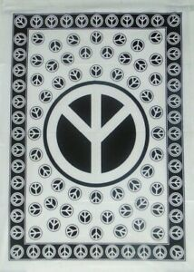 Tapestry Y Peace Sign Poster Fabric Cotton Wall Hanging Bohemian Home Dorm Decor