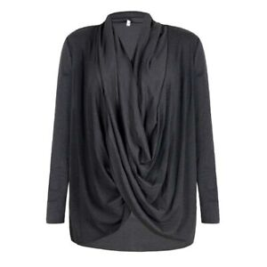 T-shirt Fashion Solid Ladies Tops Loose Casual Shirt Women's Blouse Long Sleeve