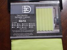 shower Curtain Beige 72 x 72 green Maya Dainty Home