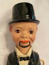 "Vintage Antique Ventriloquist Dummy Doll Puppet 13"" Charlie McCarthy Mouth Works"