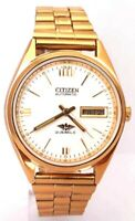 Vintage Citizen Automatic Japan Made Movement No 8200 Gold Plated Men's Watch