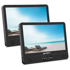"2X 12"" Dual Screen HD Portable DVD Player Car Headrest Moniter TV Battery USB SD"