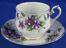Royal Albert Cup Saucer Flower of the Month VIOLETS No. 2 Bone China England