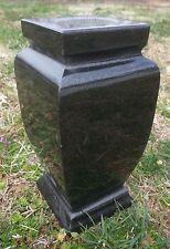 """Classic Granite Vase Black  (4""""x4""""x8"""")"""