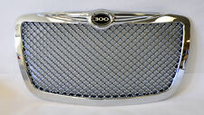 Chrome Honeycomb Front Grill w/ 300 Badge Fits Chrysler 300 300C 2005-2010