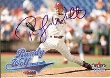 Autographed 2004 Fleer Ultra Card Randy Wolf Philadelphia Phillies Pitcher