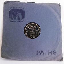 78T SAPHIR Robert MARINO Disque Phonograph AUBADE D'AMOUR Chanté PATHE 3363 RARE