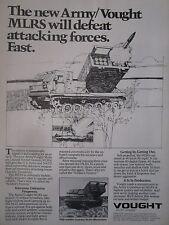 3/1982 PUB LTV VOUGHT US ARMY NATO MLRS MULTIPLE LAUNCH ROCKET SYSTEM AD