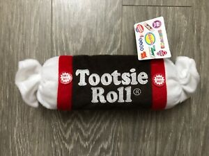 """NEW WITH TAG Stuff Tootsie Roll Squeaky Squeak Dog Toy 9"""""""