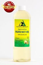 HAZELNUT OIL ORGANIC CARRIER COLD PRESSED 100% PURE 16 OZ