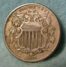 1867 With Rays Shield Nickel Better Grade * United States Coin