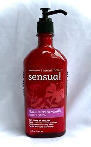 New BBW Bath& Body Works~BLACK CURRANT VANILLA~Aromatherapy SENSUAL Cream/LOTION