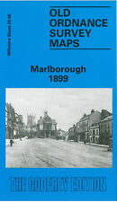 Mapa antiguo Ordnance Survey Marlborough St Margarets Stonebridge Lane preshute 1899