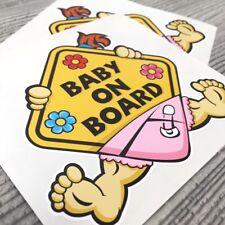 2pcs Baby on Board GIRL Car Vinyl Sticker Decal