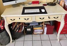 Toller Tisch Vintage Cremeweiß  Holz Mit 2 Schubladen 120x65 cm