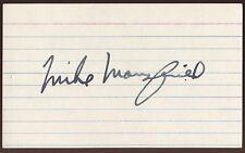 Mike Mansfield Signed Index Card Autographed Signature AUTO  Senator